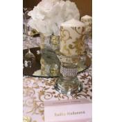 CARLTON BRATISLAVA - Zlatý ornament s hortenziami